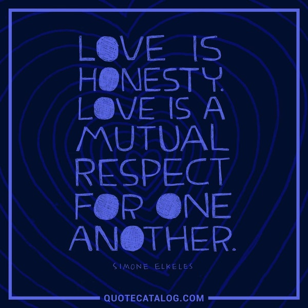 Love is honesty. Love is a mutual respect for one another. — Simone Elkeles