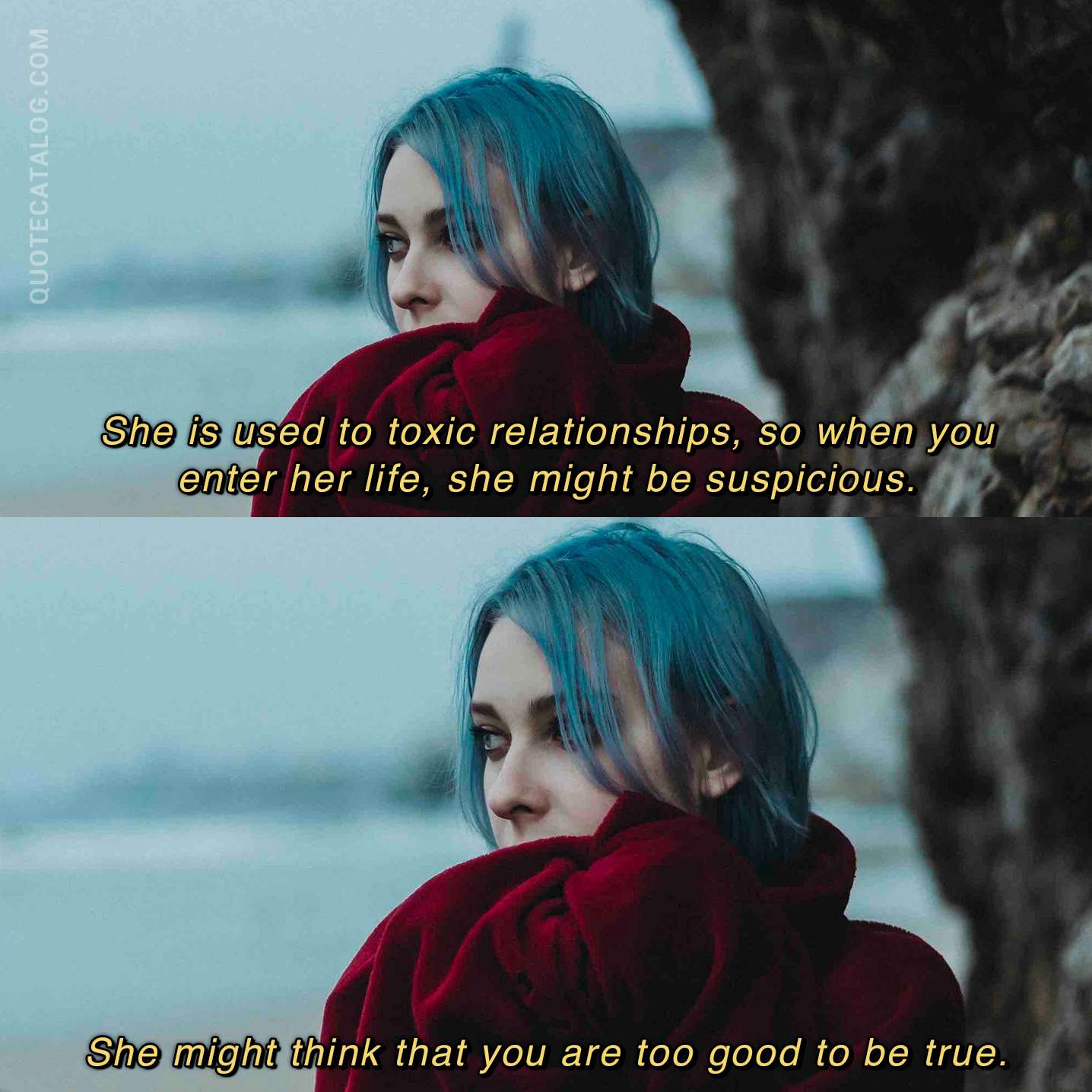 Holly Riordan Quote - She is used to toxic relationships, so
