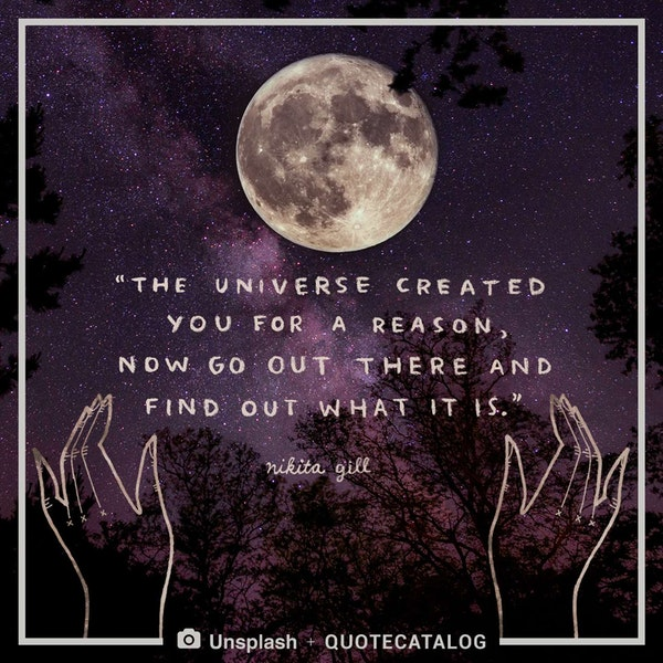 The universe created you for a reason, now go out there and find out what it is. — Nikita Gill