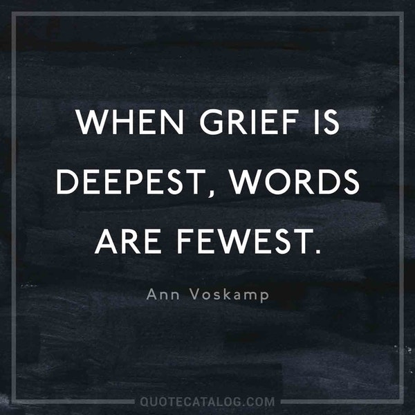 When grief is deepest, words are fewest. — Ann Voskamp