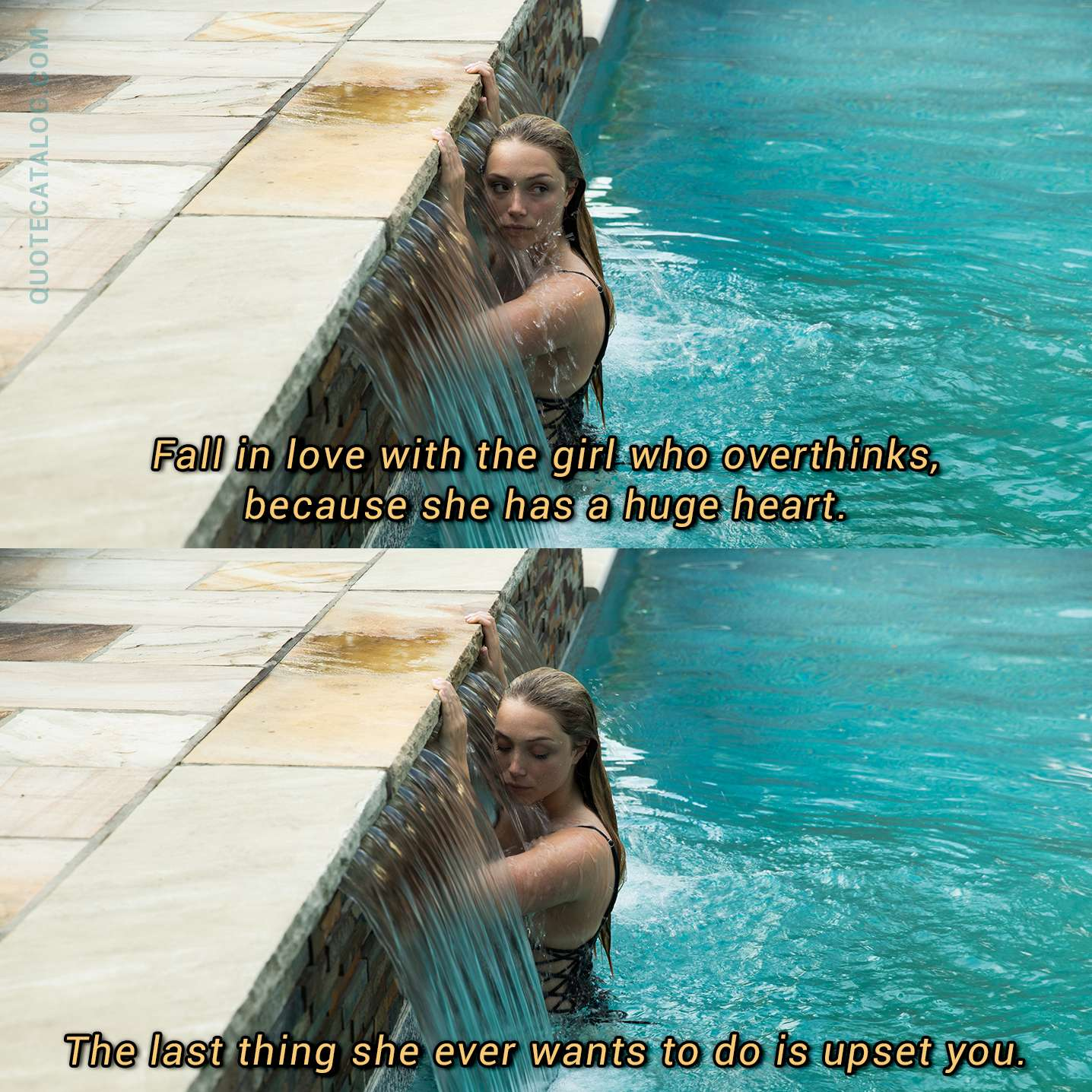 Holly Riordan Quote Fall In Love With The Girl Who Overthink
