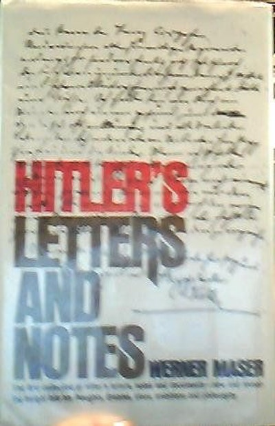 Hitler's letters and notes