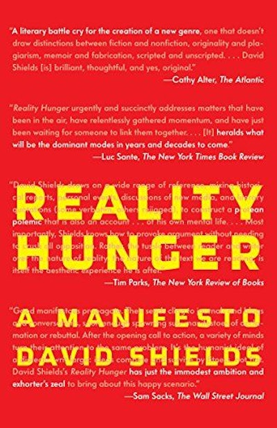 Reality Hunger (Vintage)
