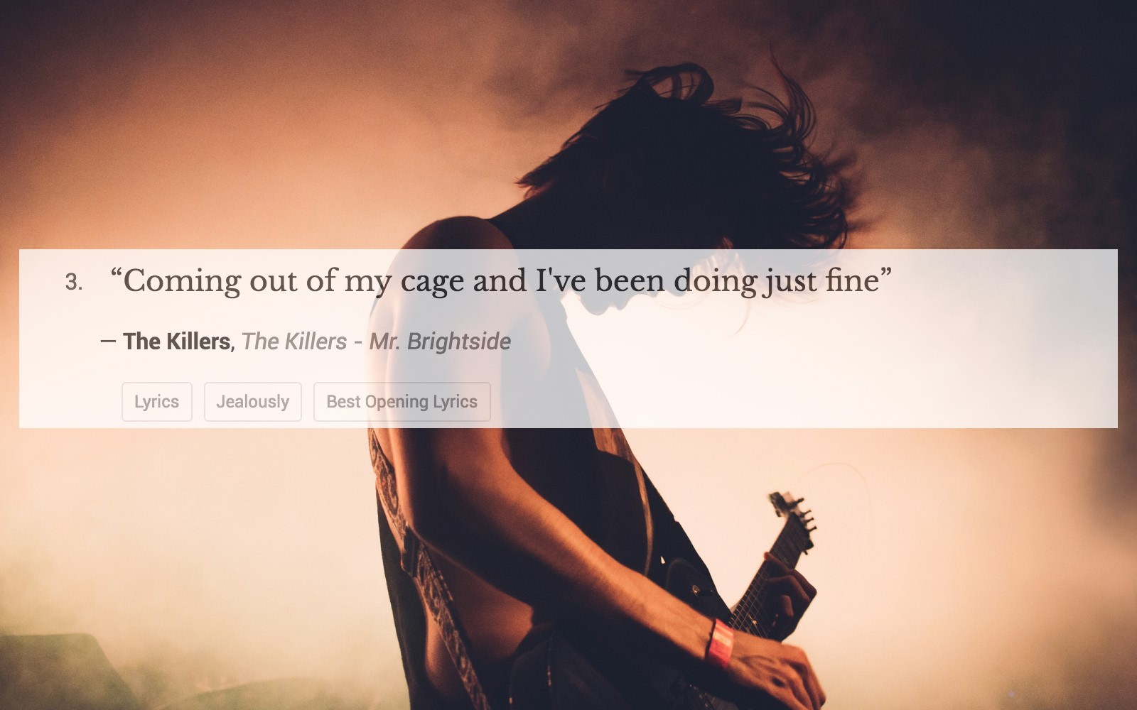 100 Of The Most Epic Opening Lyrics That Will Instantly Make You Want To Burst Out In Song