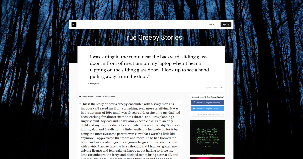 True Creepy Stories | Quote Catalog
